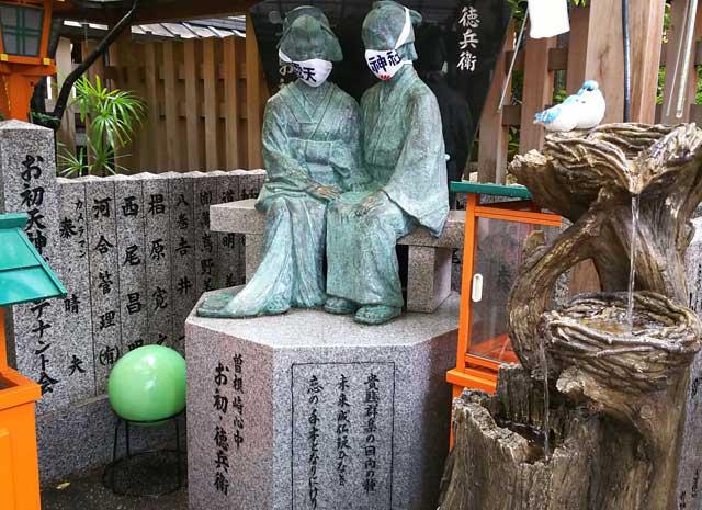 曽根崎心中の銅像