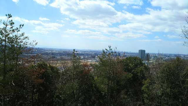 安満宮山古墳からの景色