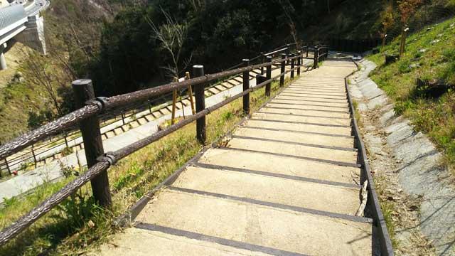 行者参道への階段