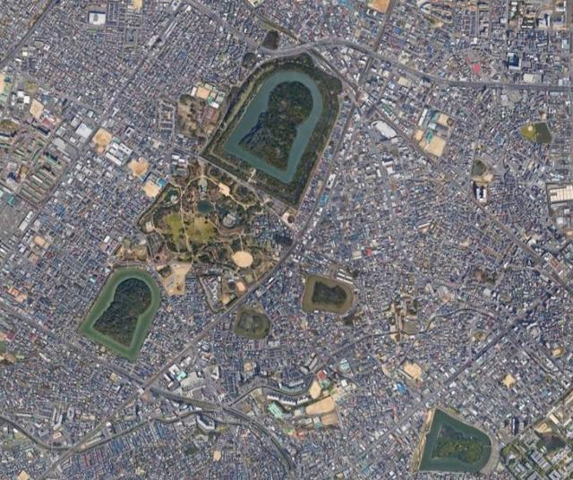 大阪府堺市周辺の前方後円墳群
