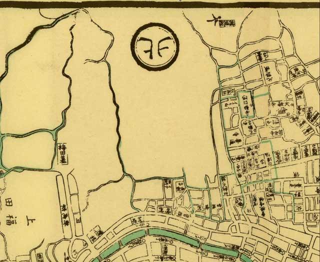 大阪駅周辺古地図