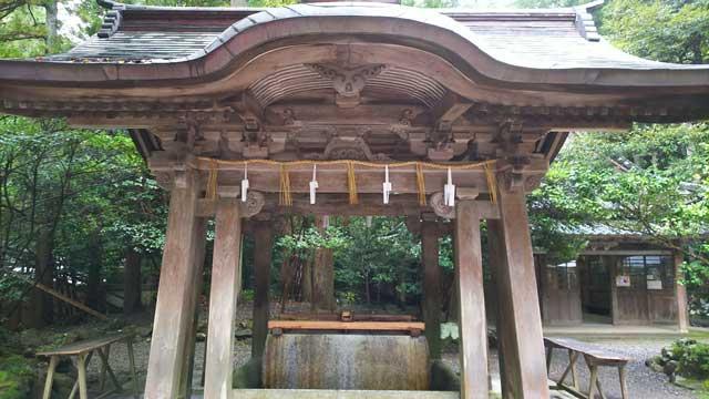彌彦神社・手水舎