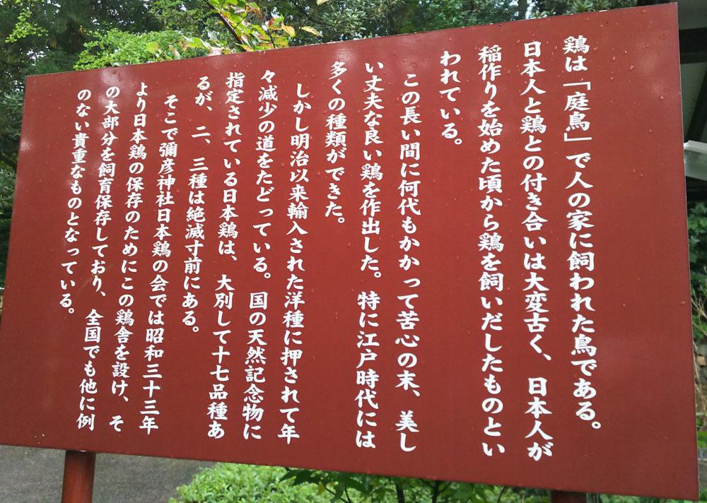 日本鶏舎説明看板