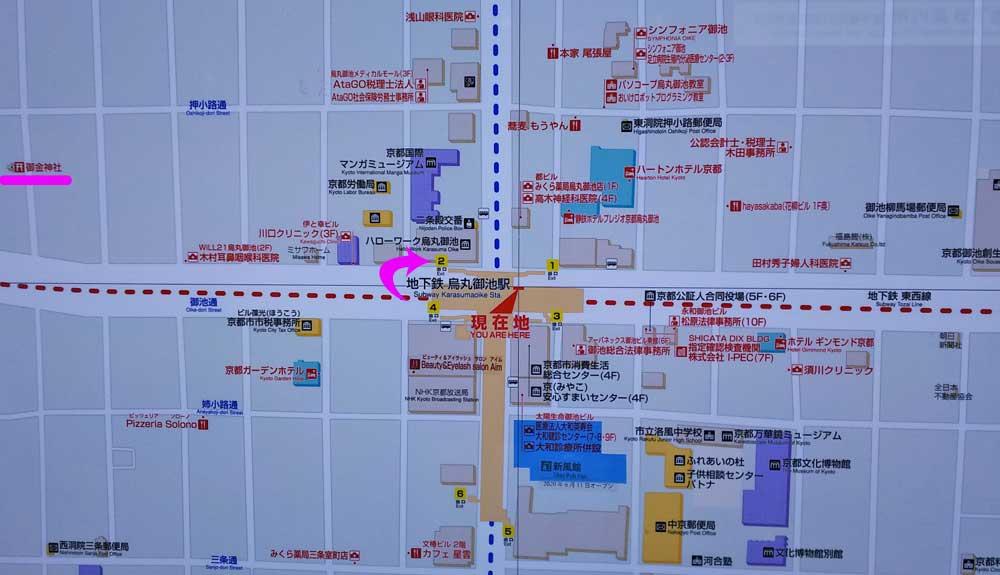 烏丸御池駅の地図