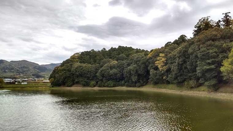 箸墓古墳のため池