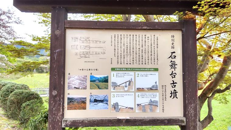 特別史跡・石舞台古墳説明看板