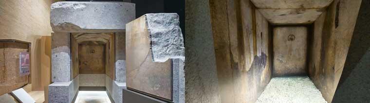 キトラ古墳石槨のレプリカ