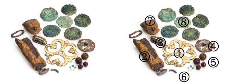 キトラ古墳副葬品