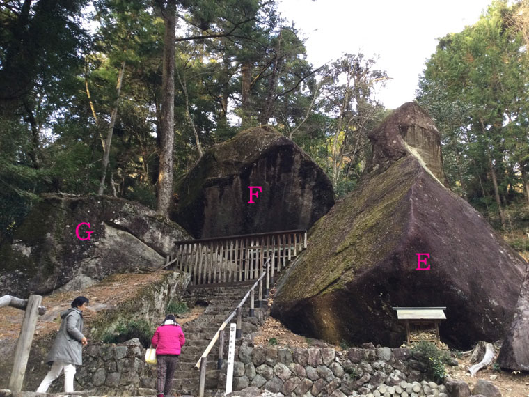 巨石「E」「F」「G」