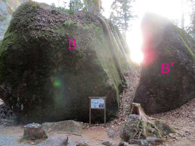 巨石「B」