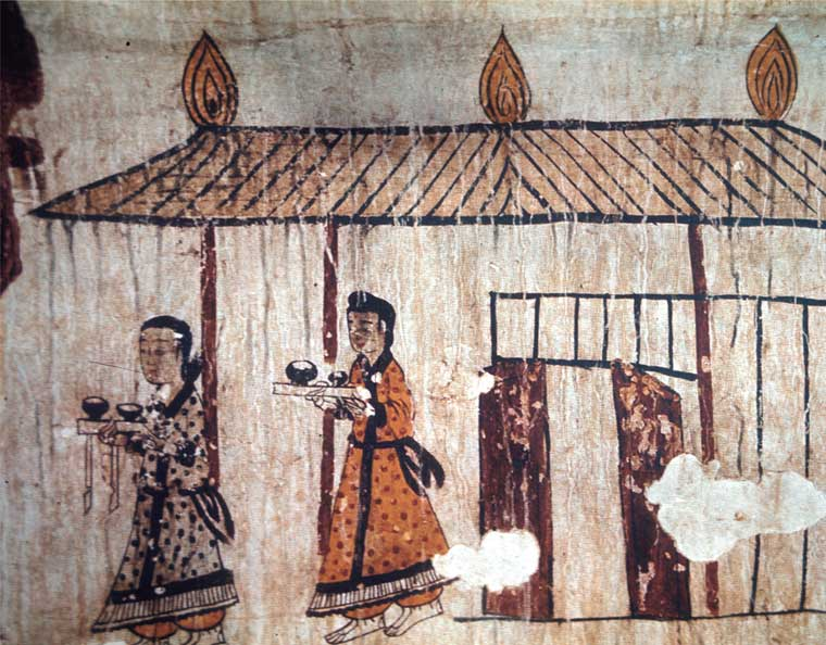 舞踏塚の壁画