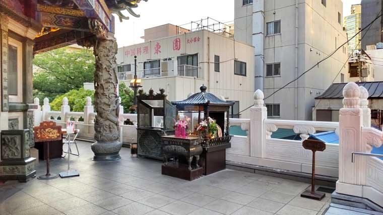 横浜媽祖廟の点香台